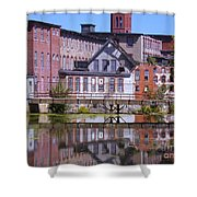 Pontiac Mills Dam Shower Curtain