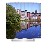 Pontiac Mills Overall 2 Shower Curtain