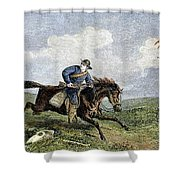 Pony Express Shower Curtain