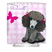 Poodle Cartoon Shower Curtain