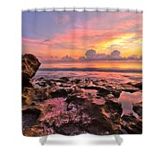 Pool Clouds Shower Curtain