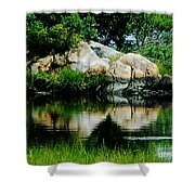 Pool In Marsh At Mystic Ct Shower Curtain