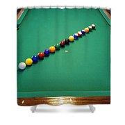 Pool Lineup Shower Curtain