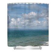 Poole Bay Panorama Shower Curtain