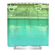 Poolside Seating Shower Curtain