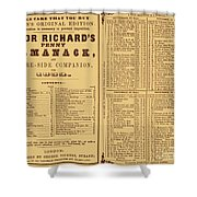 Poor Richards Penny Almanack, 1852 Shower Curtain