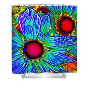 Pop Art Daisies 2 Shower Curtain