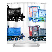 Pop Art Little Locos Shower Curtain