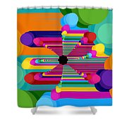 Pop Flower Shower Curtain