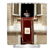 Pope Benedict Xvi B Shower Curtain by Andrew Fare