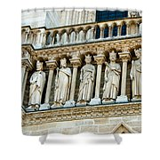 Popes At Notre Dame Cathedral Shower Curtain