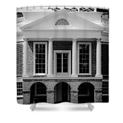 Poplar Forest South Portico Bw Shower Curtain