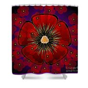 Poppies 2012 Shower Curtain