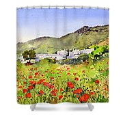 Poppies At Las Hortichuelas Shower Curtain