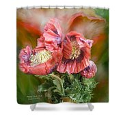Poppies Big And Bold Shower Curtain