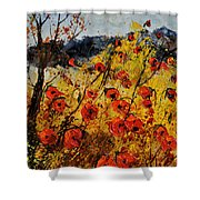 Poppies In Provence 456321 Shower Curtain