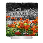 Poppy Seed Bench Shower Curtain