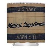 Pops W W I I Navy Blanket Shower Curtain