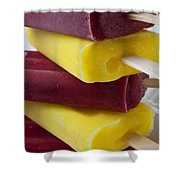 Popsicle Ice Cream Shower Curtain by Garry Gay