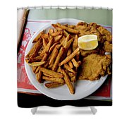 Popular Argentine Breaded-meat Dish Shower Curtain