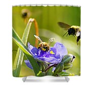 Popular Spot Cropped Shower Curtain