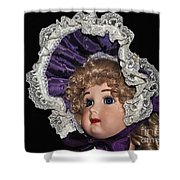 Porcelain Doll - Head And Bonnet Shower Curtain