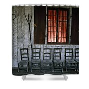 Porch Of The Bolduc House Museum Shower Curtain