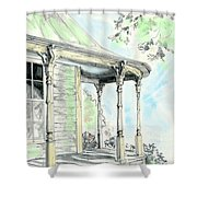 Porch Time Shower Curtain