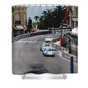 Porsches At Monte Carlo Casino Square Shower Curtain