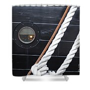 Port Hole Constellation Shower Curtain
