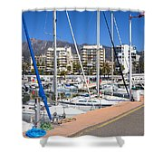 Port In Marbella Shower Curtain