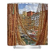 Port Of Camogli Shower Curtain