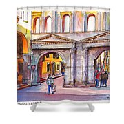 Porta Borsari Verona  First Century Ad Roman Gate Shower Curtain