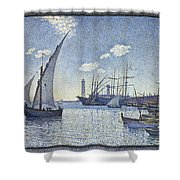 Porte De Cette Les Tartanes Shower Curtain