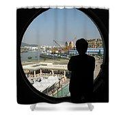 Porthole Silhouette Shower Curtain