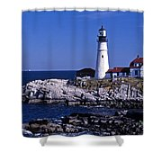 Portland Head Inshore Shower Curtain