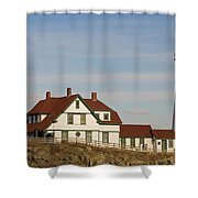 Portland Head Light Profile Shower Curtain
