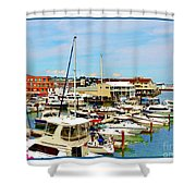 Portland Maine Harbor Shower Curtain