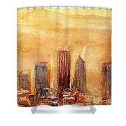 Portland Sunrise Shower Curtain