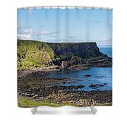 Portnaboe Bay At Giants Causeway Shower Curtain