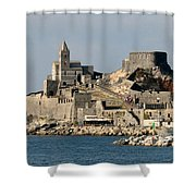 Portovenere's Church And Fortress Shower Curtain