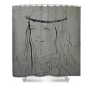 Portrait 1971 Colette Shower Curtain