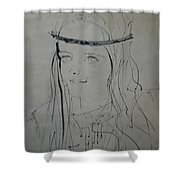 Portrait 1971 Colette Shower Curtain by Colette V Hera  Guggenheim