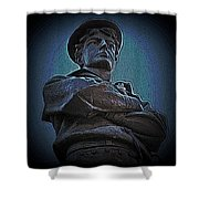 Portrait 33 American Civil War Shower Curtain