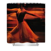 Portrait Of A Ballet Dancer Bathed Shower Curtain