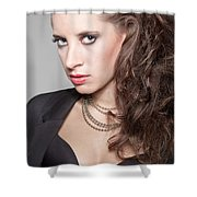 Portrait Of A Lady Shower Curtain by Ralf Kaiser