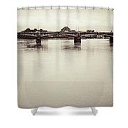 Portrait Of A London Bridge Shower Curtain