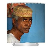 Portrait Of A Man In Charminar Shower Curtain