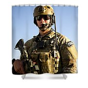 Portrait Of A U.s. Air Force Joint Shower Curtain