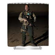 Portrait Of A U.s. Contractor Shower Curtain
